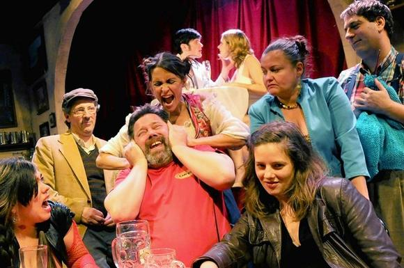 """OVERWEIGHT,"" is at Trap Door Theatre, and is not a play for all audiences."