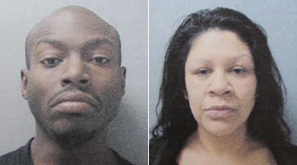 Tyrone Hill, left, and Maria Garcia are suspects in a Harvey homicide.