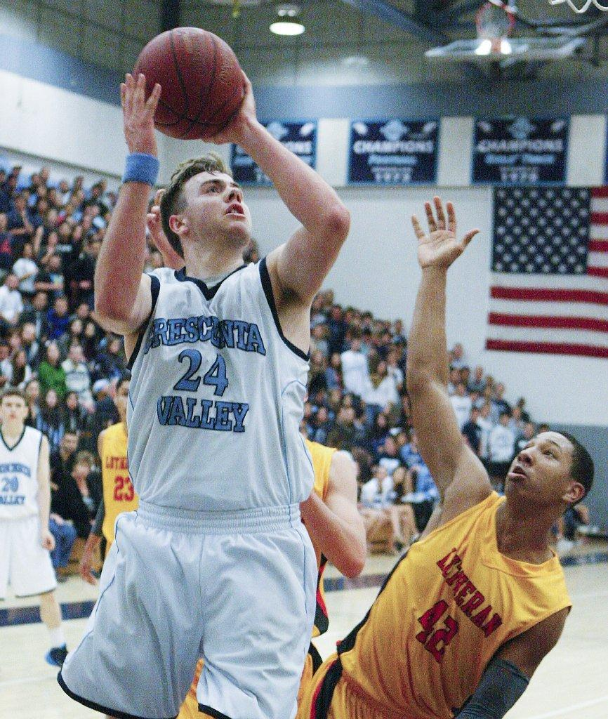 Crescenta Valley High senior forward Eric Patten was named the Pacific League's co-Player of the Year. (Tim Berger/Staff Photographer)