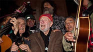 Occupy Wall Street protesters serenaded by Pete Seeger