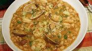 Recipe: White beans with chorizo, clams and shrimp