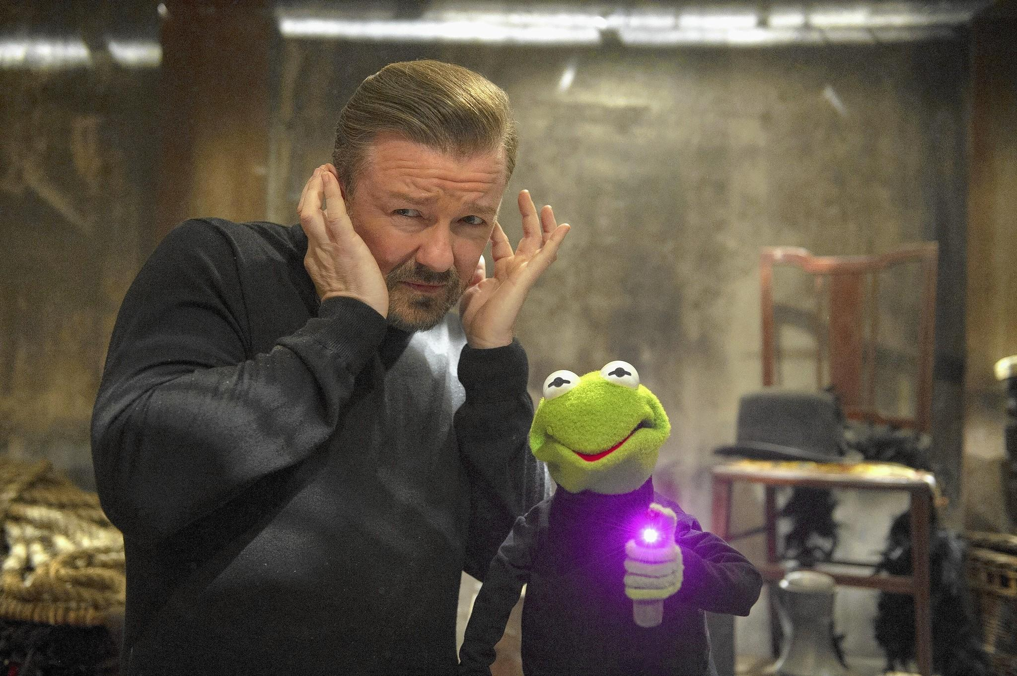 """Ricky Gervais in """"Muppets Most Wanted."""""""