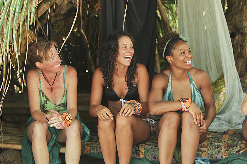 "Kassandra ""Kass"" McQuillen, Alexis Maxwell and Latasha ""Tasha"" Fox during the ""Odd One Out"" episode of ""Survivor: Cagayan."""