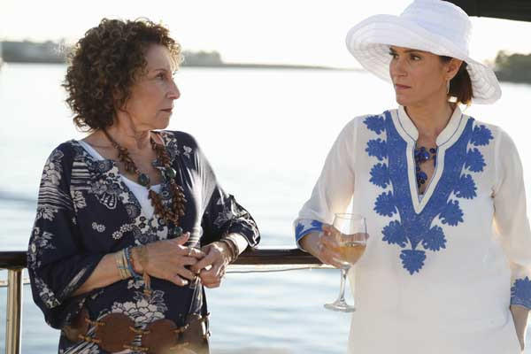 "Moral support is needed when Debbie (Jami Gertz) visits her estranged mother (Rhea Perlman) in a new episode of ""The Neighbors,"" on ABC."