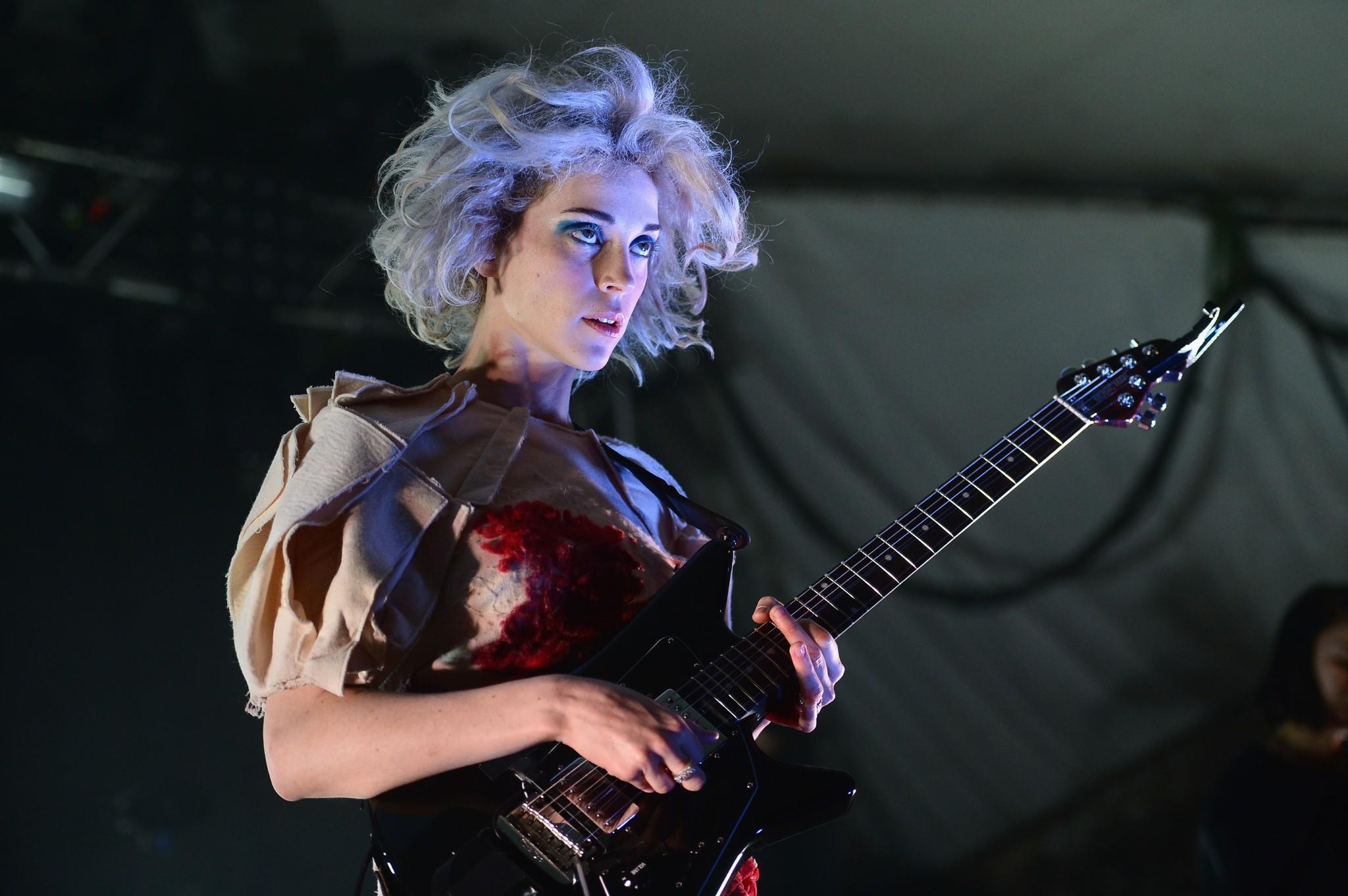 St. Vincent performs during the NPR 2014 SXSW Music, Film   Interactive show.