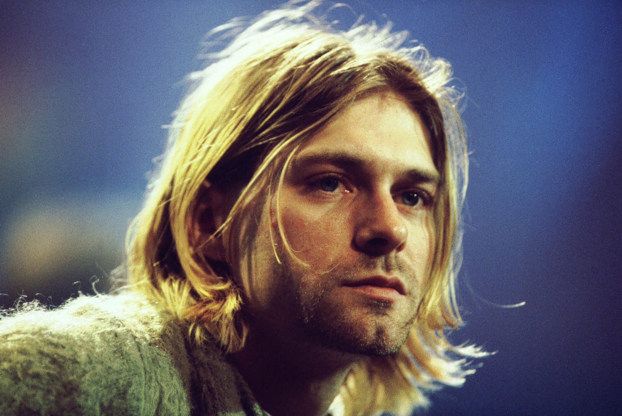 Kurt Cobain of Nirvana during the taping of MTV Unplugged at Sony Studios in New York City. The singer committed suicide in April 1994.