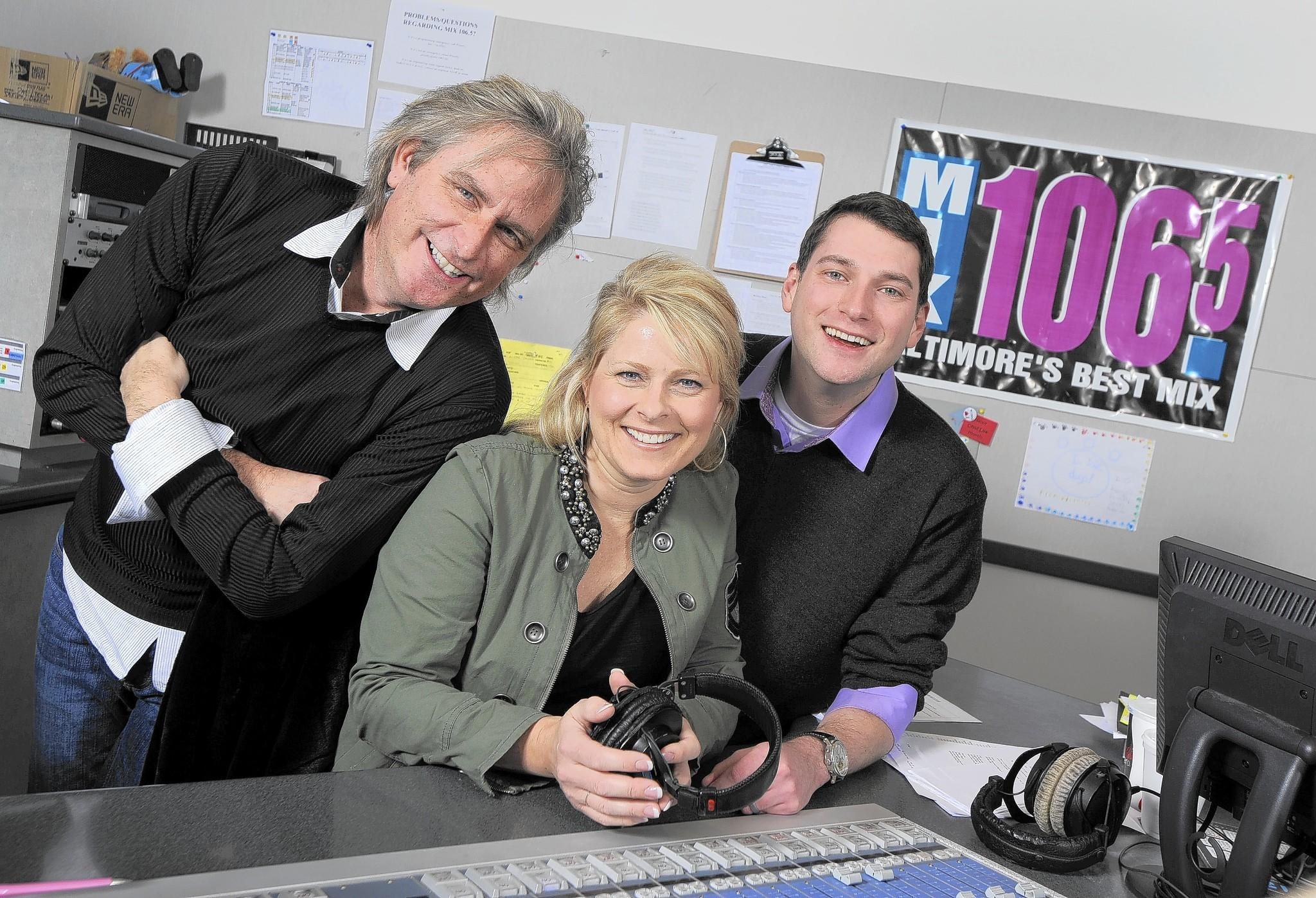 Mix 106.5 morning radio personality Maria Dennis, who announced Thursday that she has been diagnosed with leukemia, appears with co-hosts Jon Boesche, left, and Reagan Warfield.