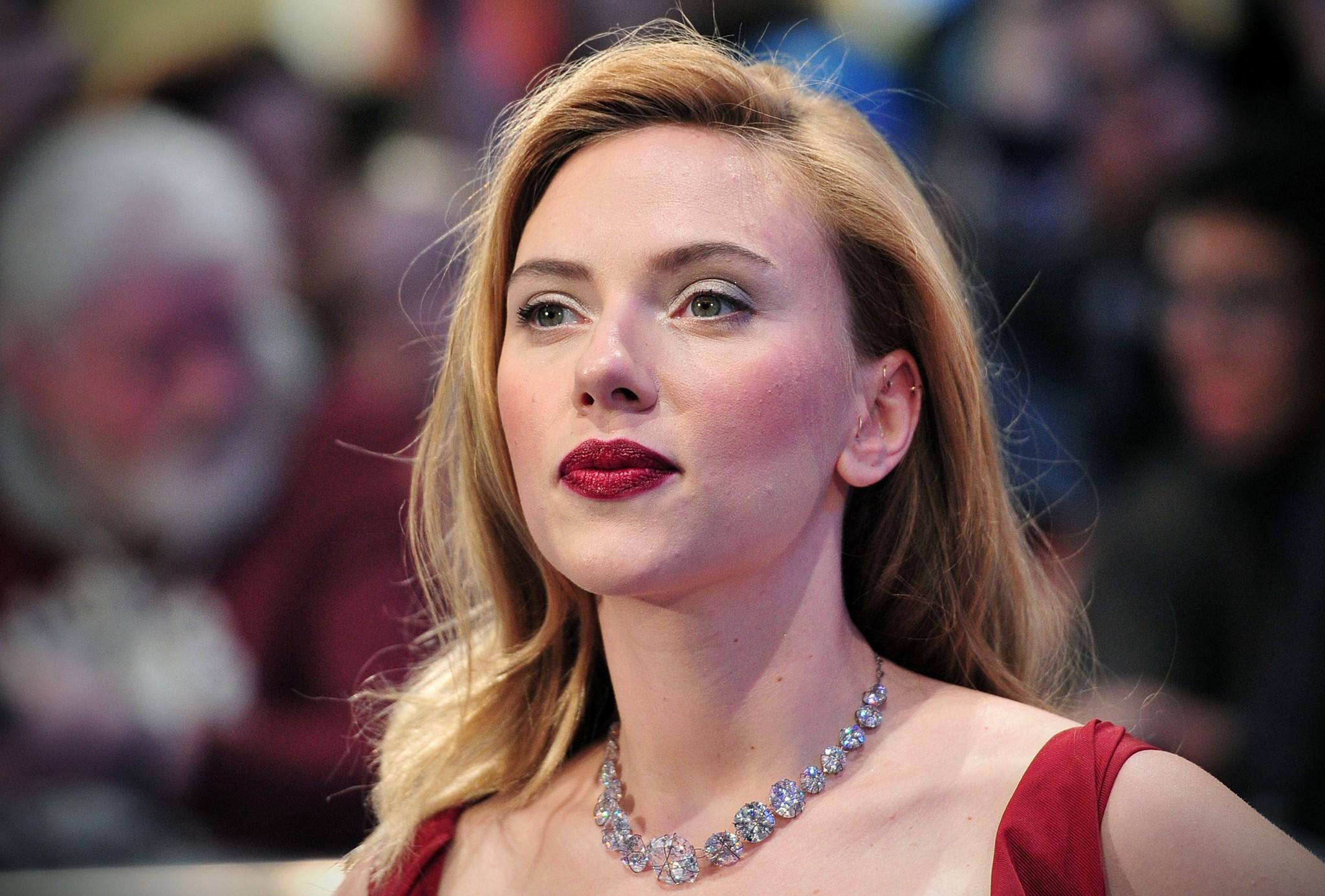 "Scarlett Johansson at the London premiere of ""Captain America: The Winter Soldier in London."""
