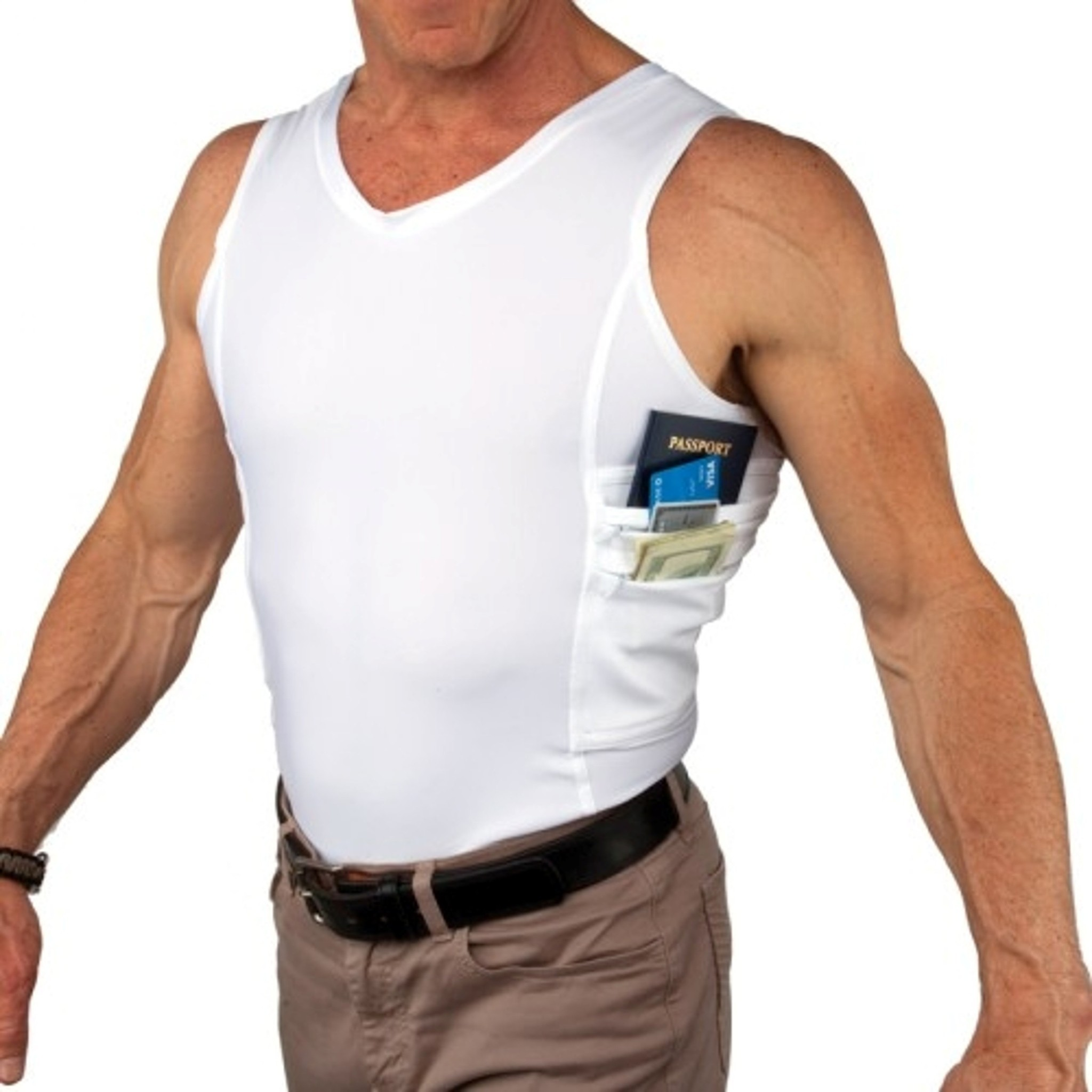 gear undershirts with hidden pockets la times ForTravel Gear Hidden Pocket