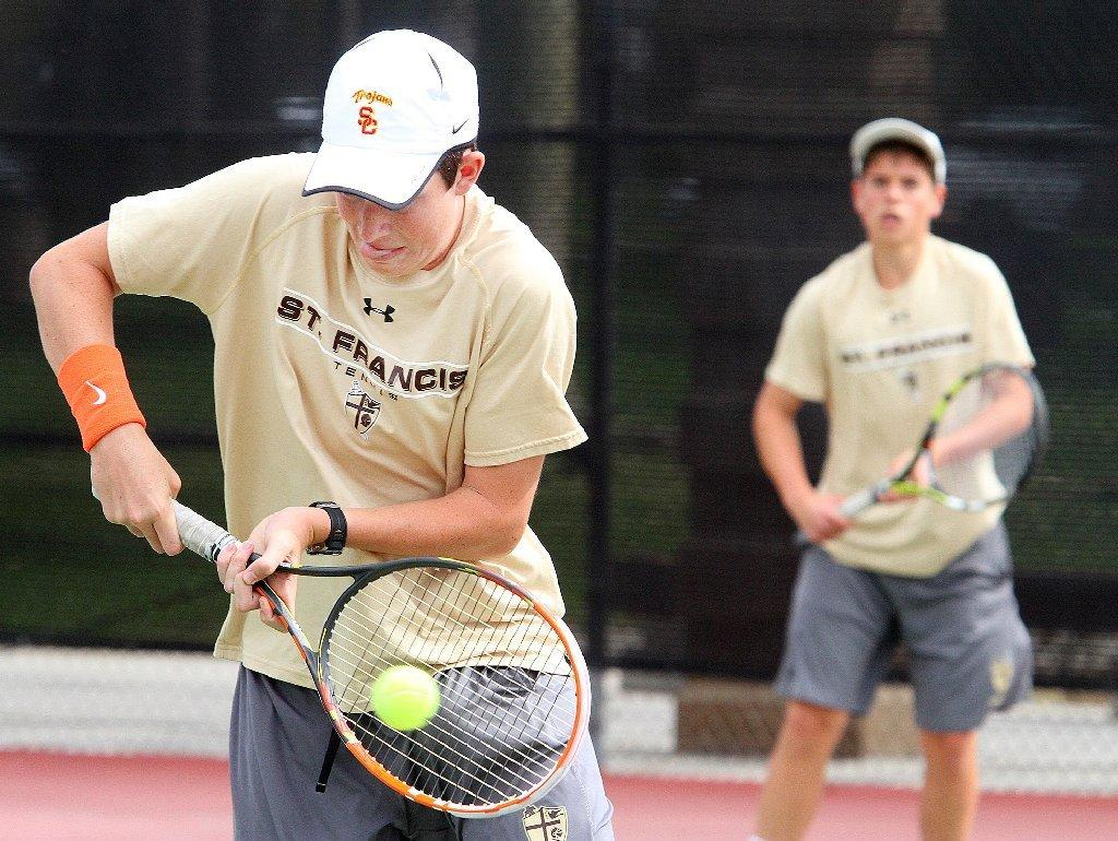St. Francis High tennis rolled to a 15-3 Mission League win over Notre Dame on Thursday.