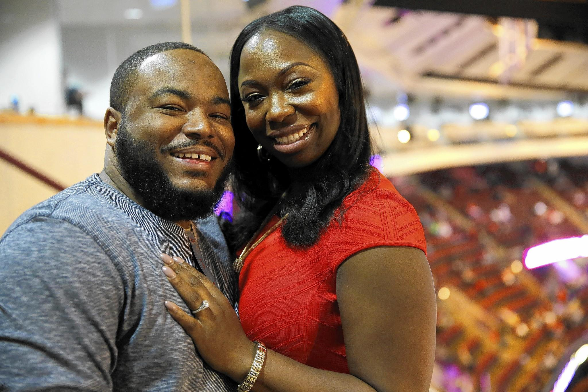 Wesley Coleman and Tracie A. Todd met in a box at the United Center during a Chicago Bulls game and now in a long-distance relationship.