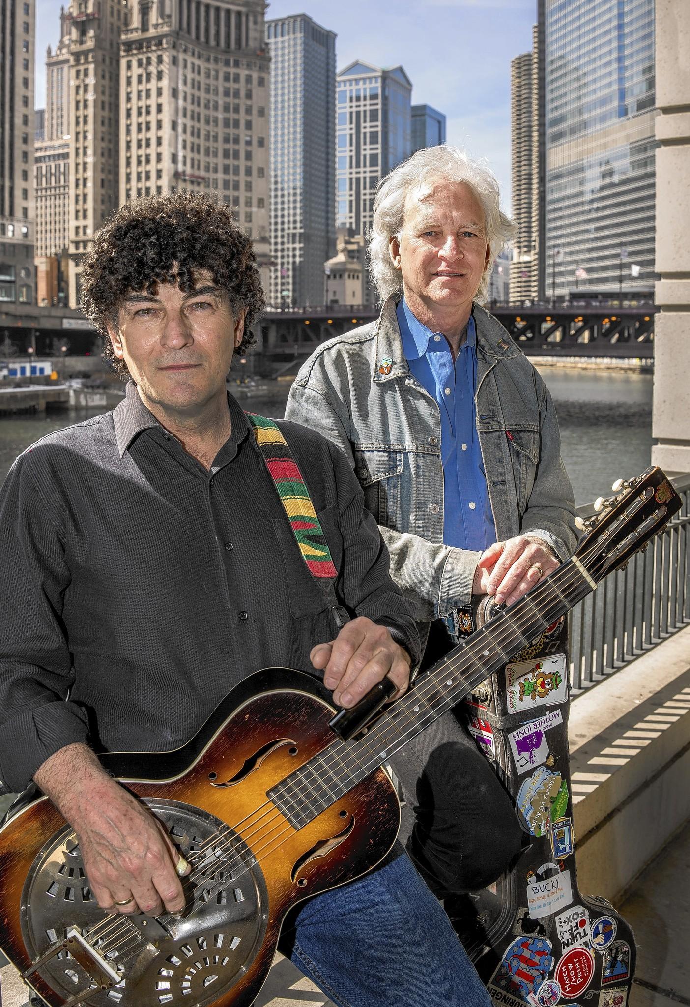 Legendary folk singers Chris Valillo and Bucky Halker.