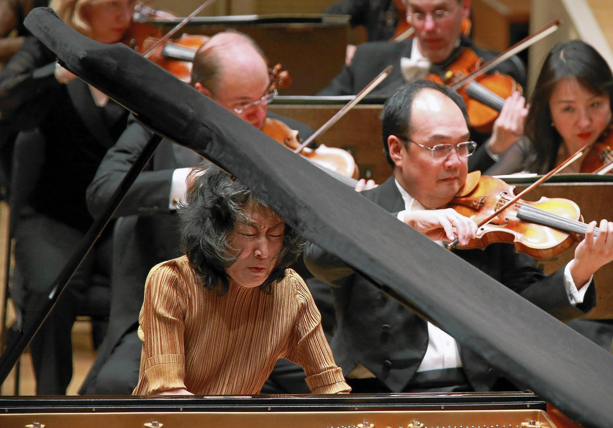 Mitsuko Uchida performs Schumann's Piano Concerto in A Minor under the direction of Conductor Riccardo Muti at Symphony Hall.