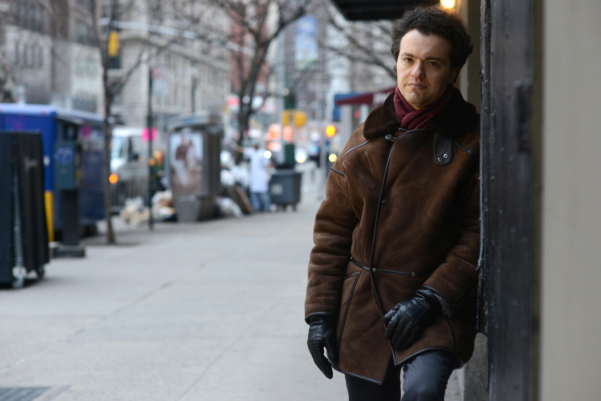 Pianist Evgeny Kissin on the Upper West Side in Manhattan, NY.