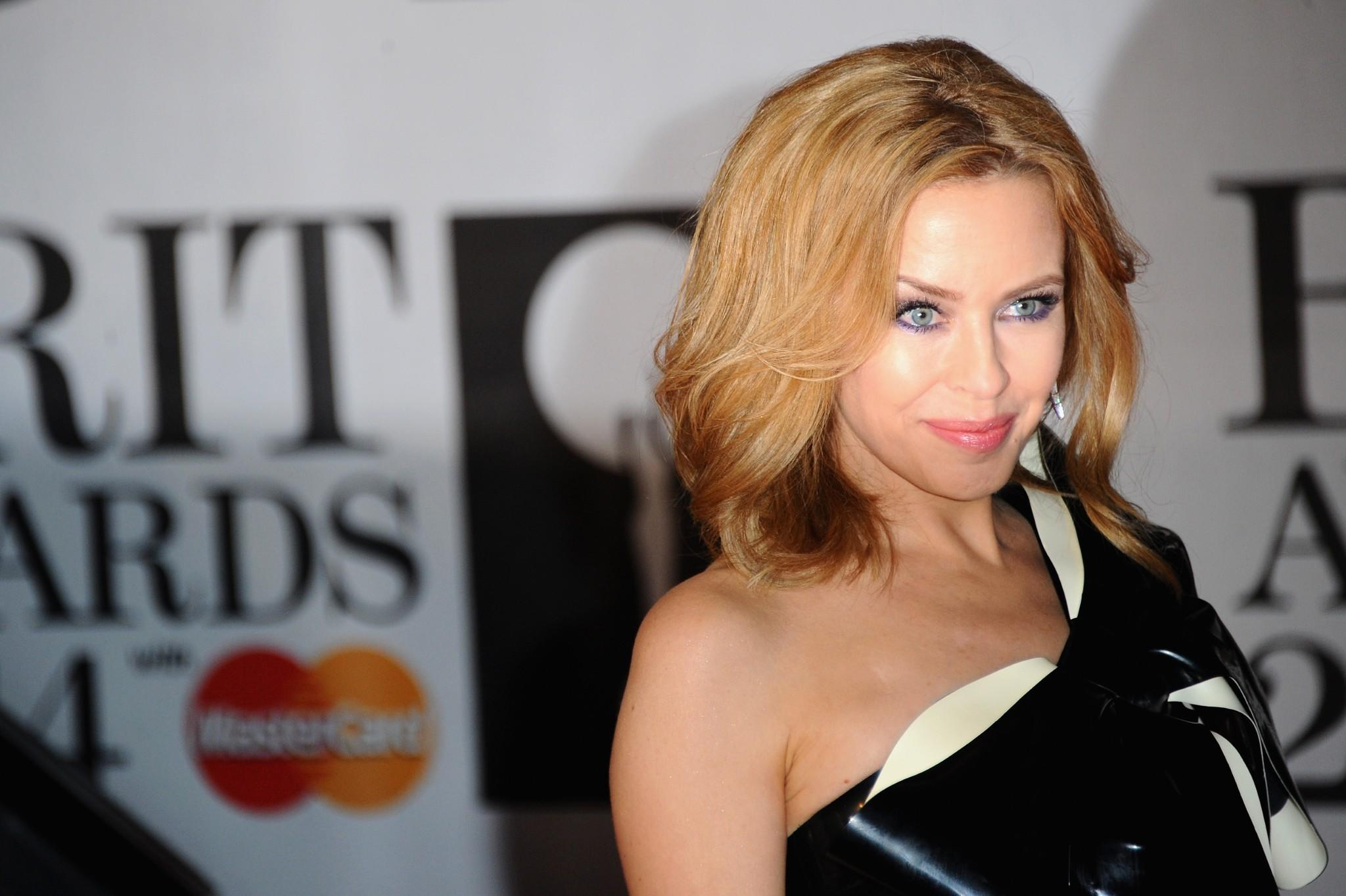 """Kylie Minogue, seen last month at the Brit Awards in London, has a new album, """"Kiss Me Once."""""""
