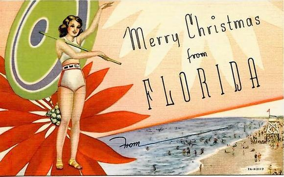 Postcard: Merry Christmas from Florida