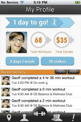 GymPact app screen shot
