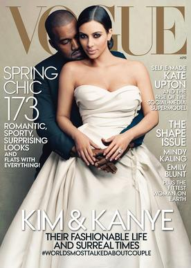 After numerous rumors and contentious quotes, the fashionable pair landed the April 2014 issue of Vogue magazine ahead of their summer wedding.