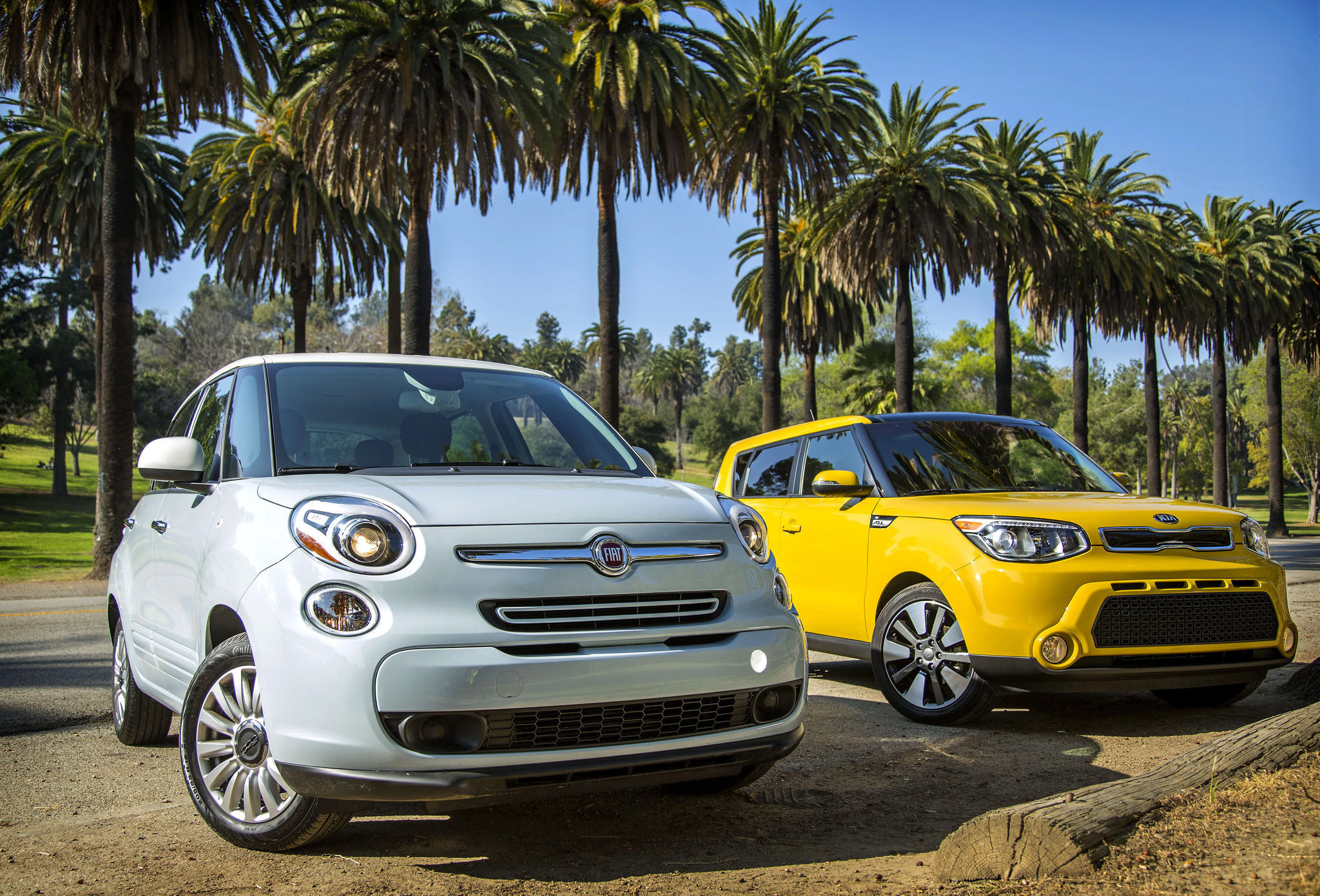 The All New Fiat 500l Left And Redesigned Kia Soul Are In