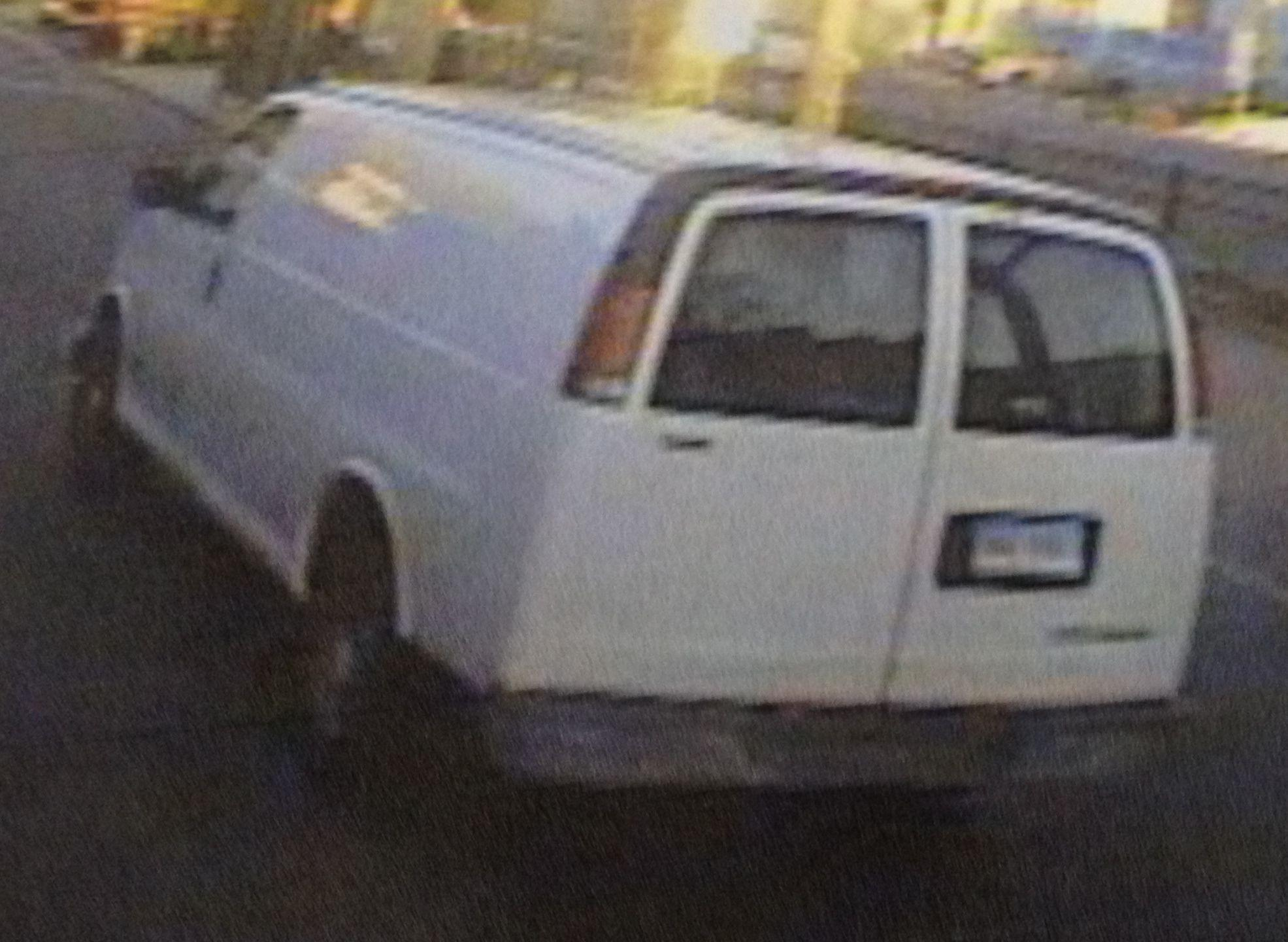 Police are seeking this white Chevrolet Express Cargo van, which they believe was involved in a hit-and-run that seriously injured an 8-year-old girl in New Haven Tuesday morning at the intersection of Ferry and Pine streets. The driver left the scene of the accident and will face felony evading charges, police said.