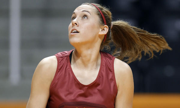 USC forward Cassie Harberts played a leading role in the Trojans' surprising Pac-12 tournament title run. She looks to continue her string of clutch performances Saturday in USC's NCAA tournament opener against St. John's.