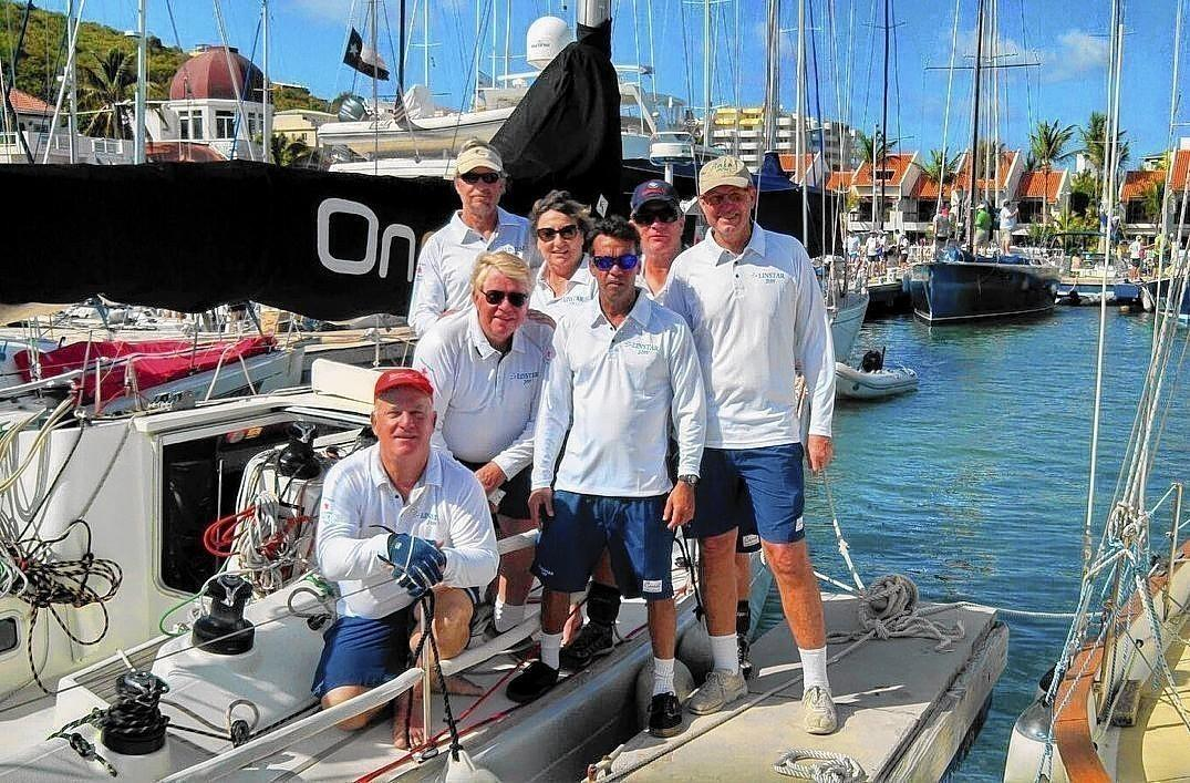 Team Linstar at the 2014 Heineken Regatta in St. Maarten.