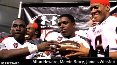 Marvin Bracy under armour catch