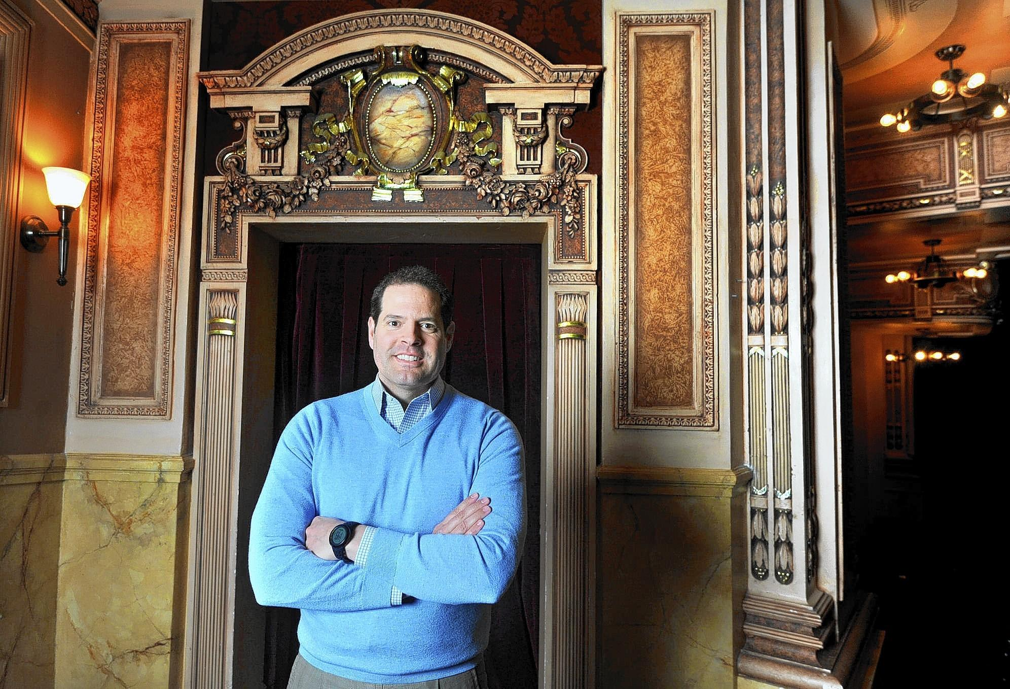 Jeff Daniel, outgoing president of the Hippodrome at the France-Merrick Performing Arts Center, is pictured at the Hippodrome.