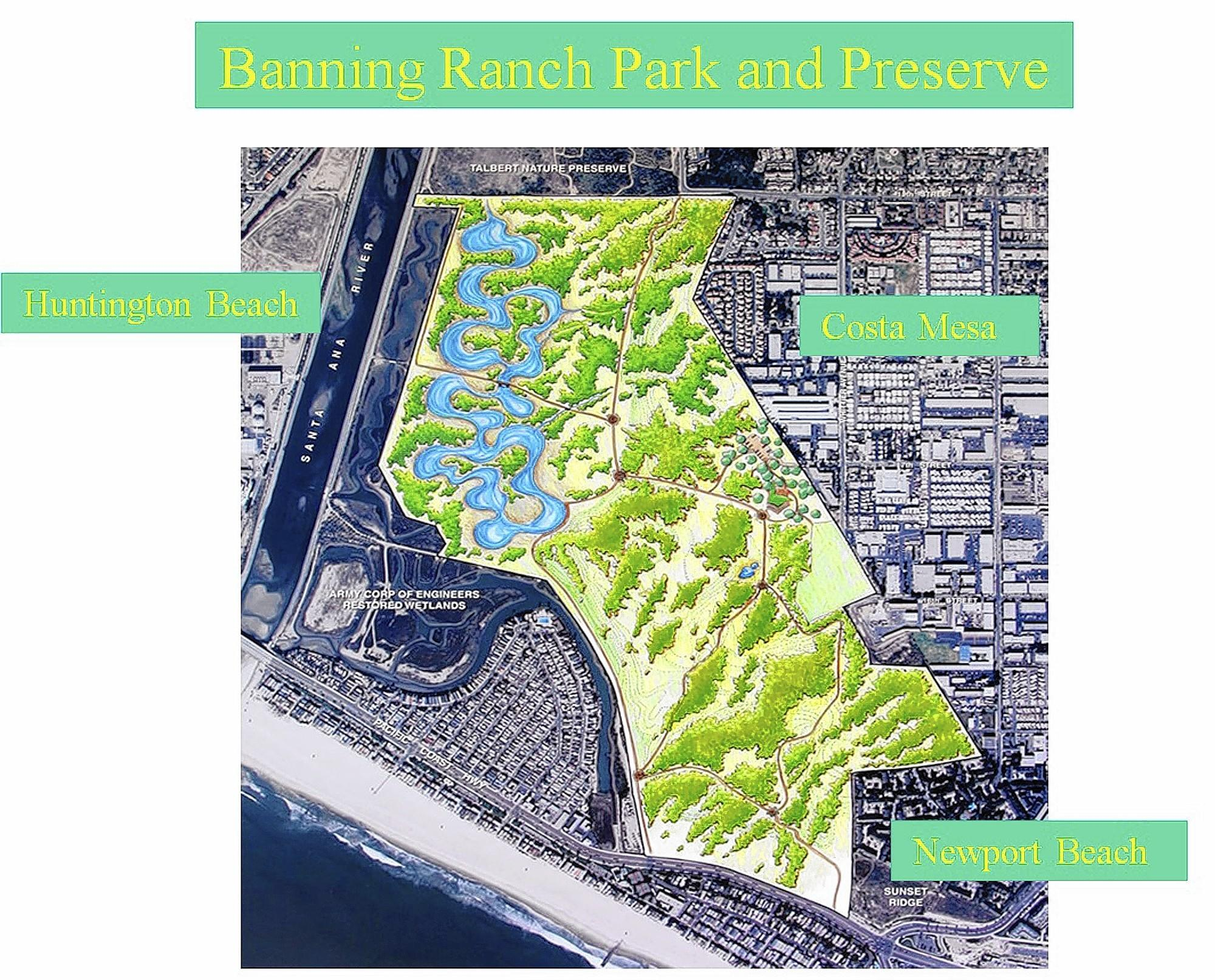 Pictured is Banning Ranch Conservancy's vision of what to do with the 400 acres: a nature preserve free of development.