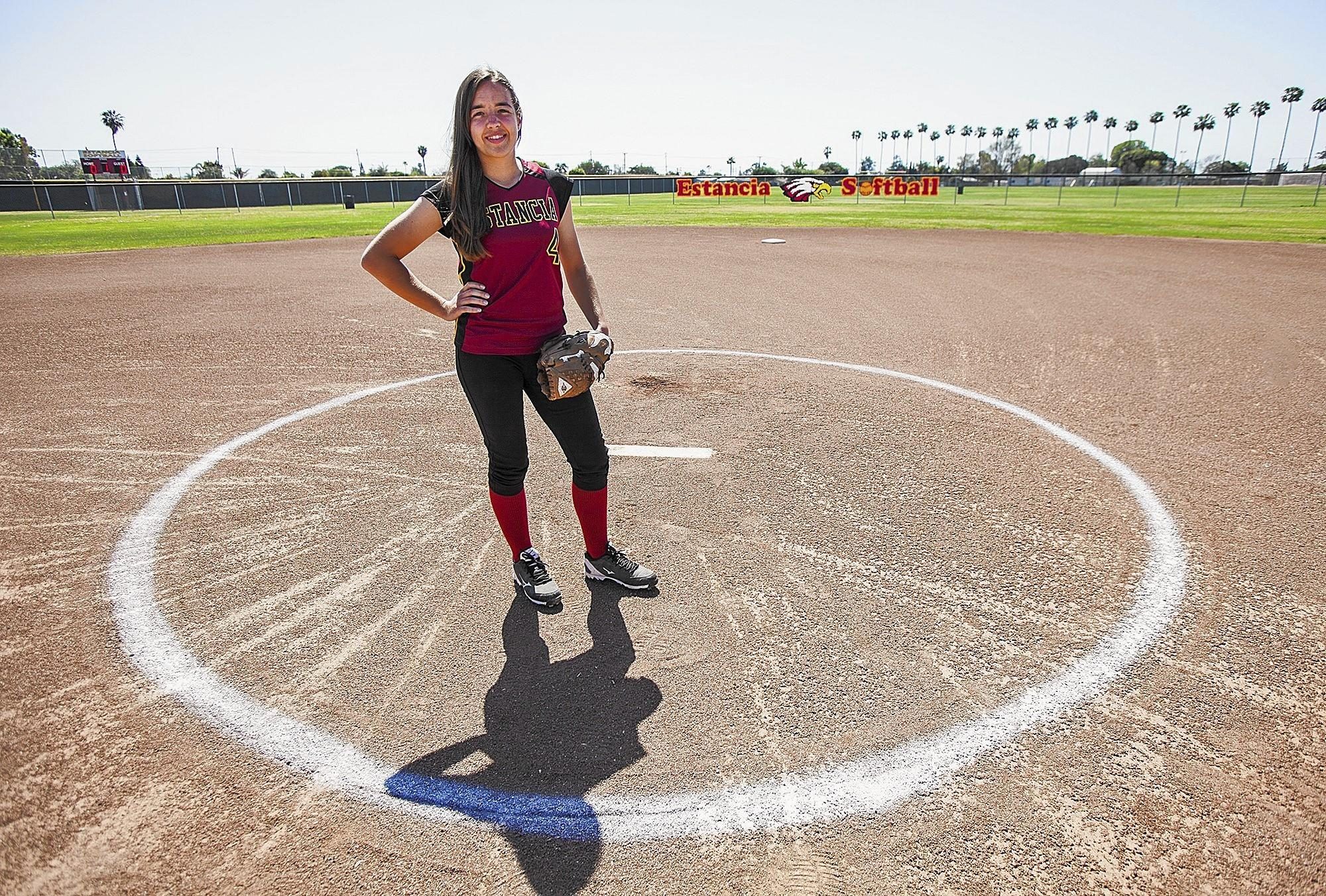 Estancia High pitcher Kelly Hinkle is the Daily Pilot High School Athlete of the Week.