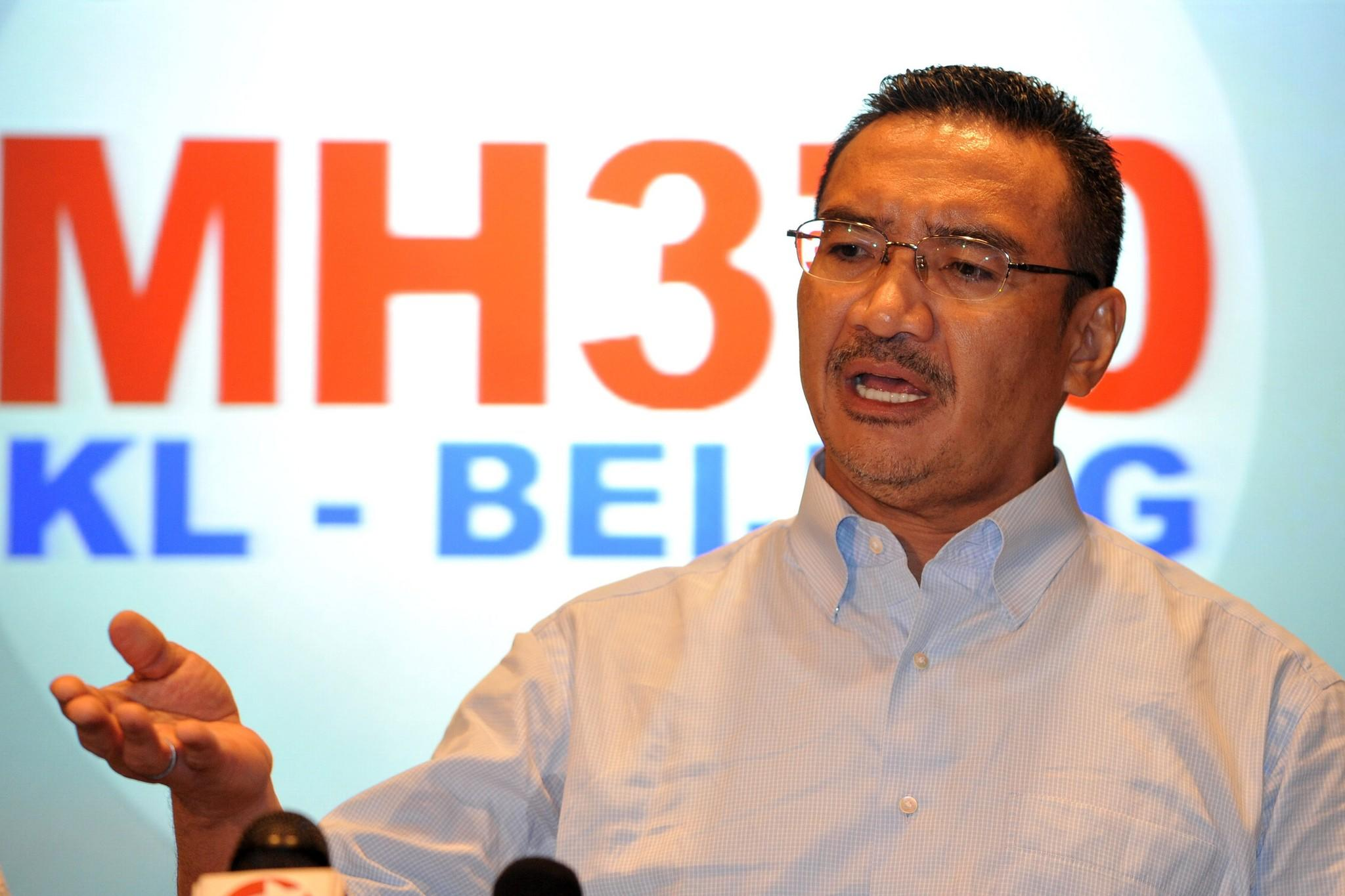 Malaysia's Minister of Defense and acting Minister of Transport Hishammuddin Hussein speaks at a press conference on Saturday in Kuala Lumpur.