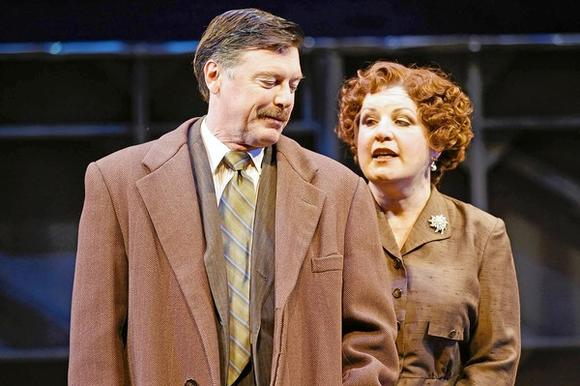 "David Kortemeier and Klea Blackhurst in ""Gypsy"" at Drury Lane Theatre."