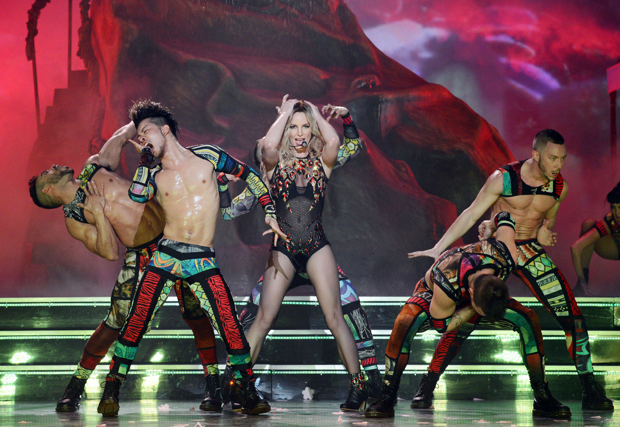 "Britney Spears performs during her Las Vegas residency, ""Britney: Piece of Me,"" at Planet Hollywood."