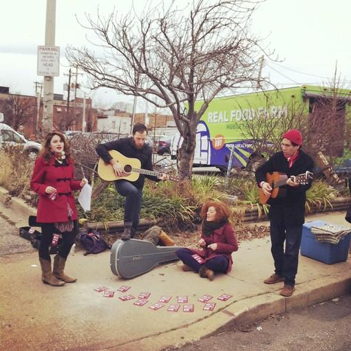 Feel the love! The Valentonez (L-R): Britt Olsen-Ecker, Paul Diem, Melissa Wimbish and Aldo Pantoja.