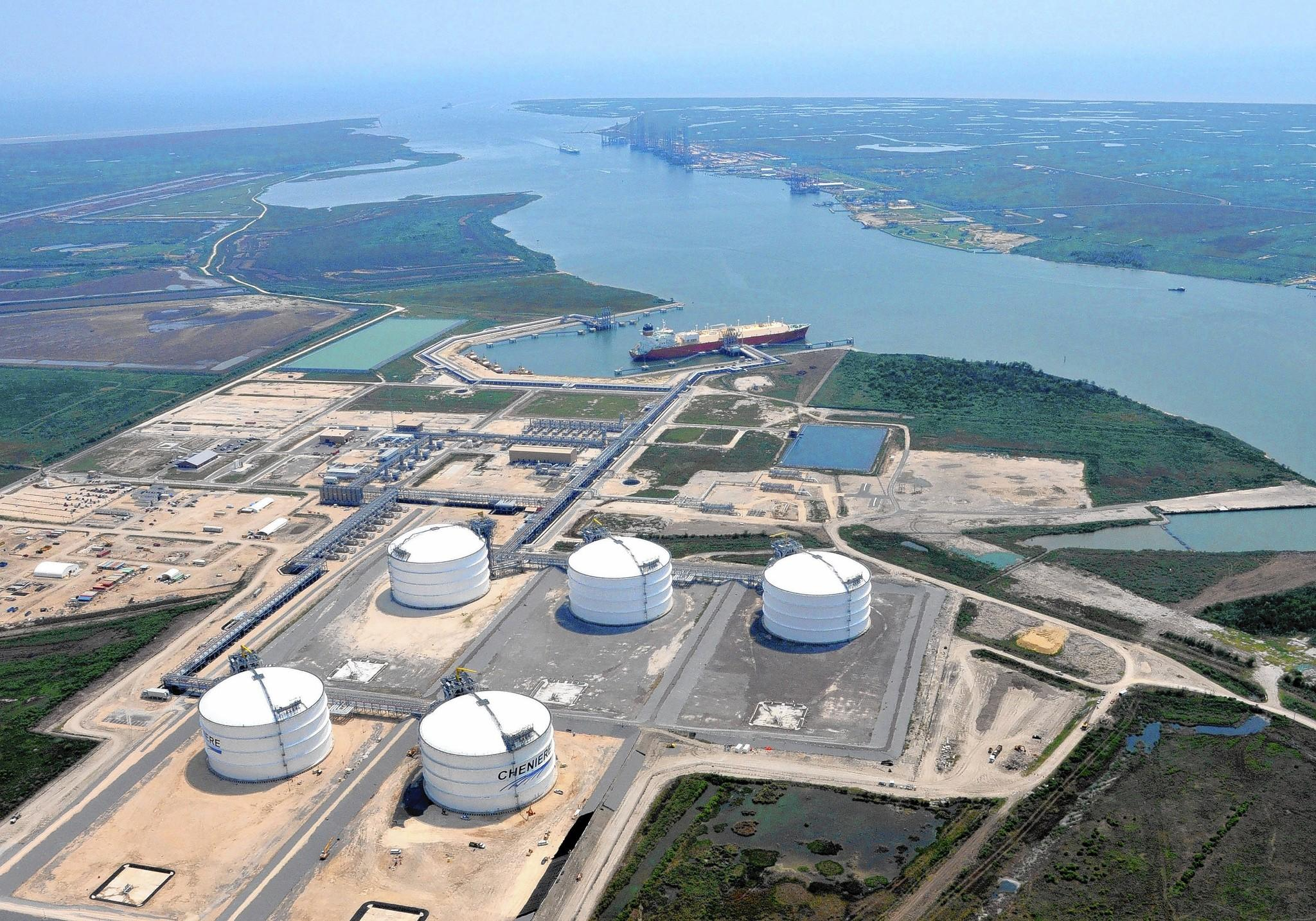 A liquefied natural gas plant under construction by Cheniere Energy Inc. in Louisiana is the first large-scale export facility approved in the country, expected to begin operation next year. Twenty-one other proposed plants are awaiting federal approval.