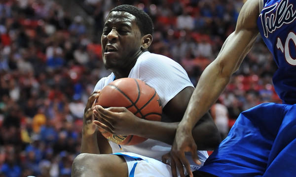 UCLA's Jordan Adams grabs a rebound during the Bruins' victory over Tulsa in the second round of the NCAA tournament on Friday. If UCLA manages to defeat Stephen F. Austin on Sunday, it's Sweet 16 reward likely will be a matchup against top-seeded Florida.