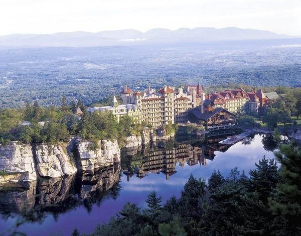 """Location: A castle 90 miles north of New York City, overlooking Lake Mohonk<br> <br> Best for: Anyone who loves the outdoors<br> <br> Details: Mohonk's health amenities all revolve around the picturesque outdoors in Hudson Valley. Choose to explore the 85 miles of hiking trails, to swim the lake in warm weather or to skate in the 10,000-square-foot outdoor ice rink during cooler months, said Fiske, who also represents Mohonk. When the sun sets, remain under the stars for a cozy nostalgic campfire, complete with s'mores.<br> <br> Cool perk: It's one of the rare health retreats that invites you to bring the kids. They can take part in nature walks and canoe tours led by a staff naturalist.<br> <br> Dates offered: Ongoing<br> <br> Price: Rooms start at $270 per person per night and include all meals and most activities.<br> <br> Information: 845-255-1000, <a href=""""http://www.mohonk.com"""">mohonk.com</a>"""