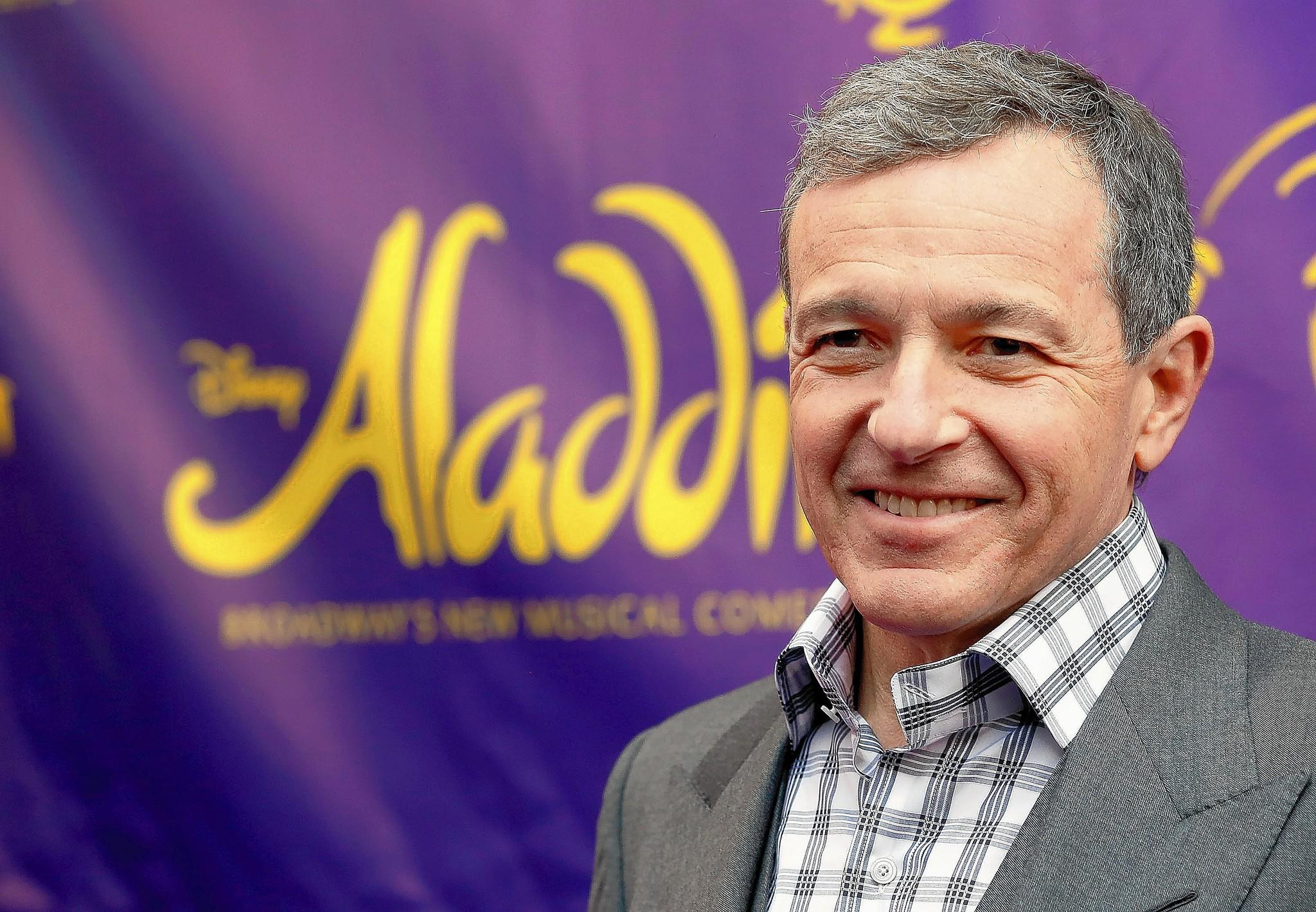 "NEW YORK, NY - MARCH 20: Chairman and Chief Executive Officer of The Walt Disney Company Bob Iger attends the ""Aladdin"" On Broadway Opening Night at New Amsterdam Theatre on March 20, 2014 in New York City."