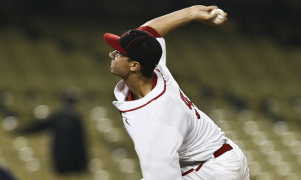 Harvard-Westlake pitcher Jack Flaherty delivers during the Wolverines' Southern Section Division 1 championship win over Marina at Dodger Stadium in May. The Wolverines are No. 6 in this week's rankings.