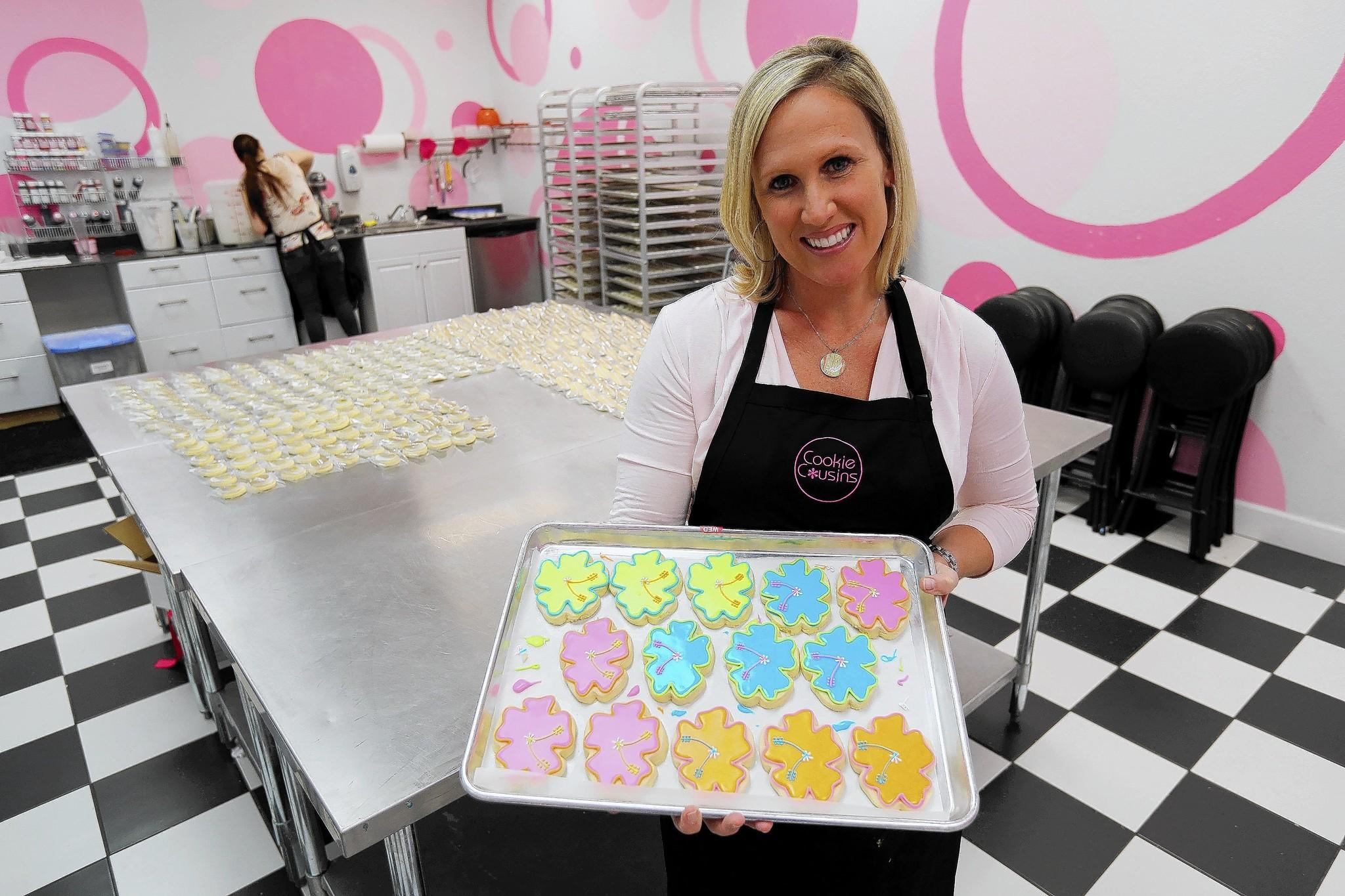 Melissa Hart owner of Cookie Cousins on Edgewater Drive, on Tuesday, March 18, 2014.