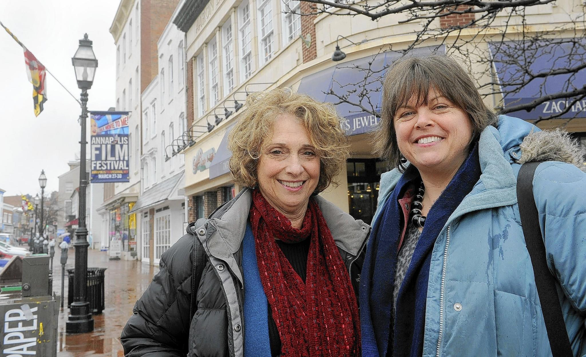 Patti White, left, and K. Lee Anderson are creative directors of the Annapolis Film Festival, which will be held later this week.