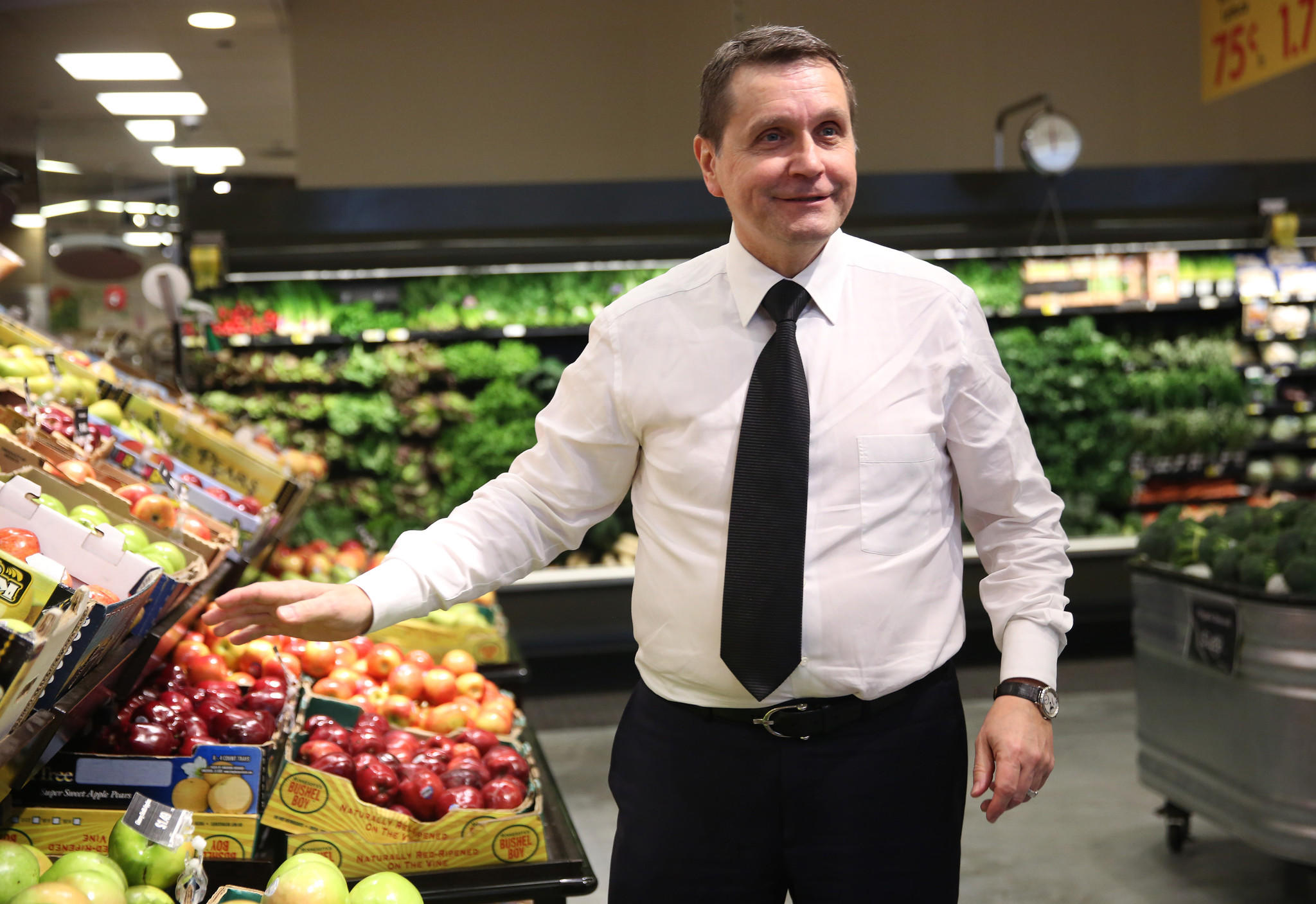 Mariano's CEO Bob Mariano at the grocery store's flagship location at 40 S. Halsted in Chicago on Dec. 3.