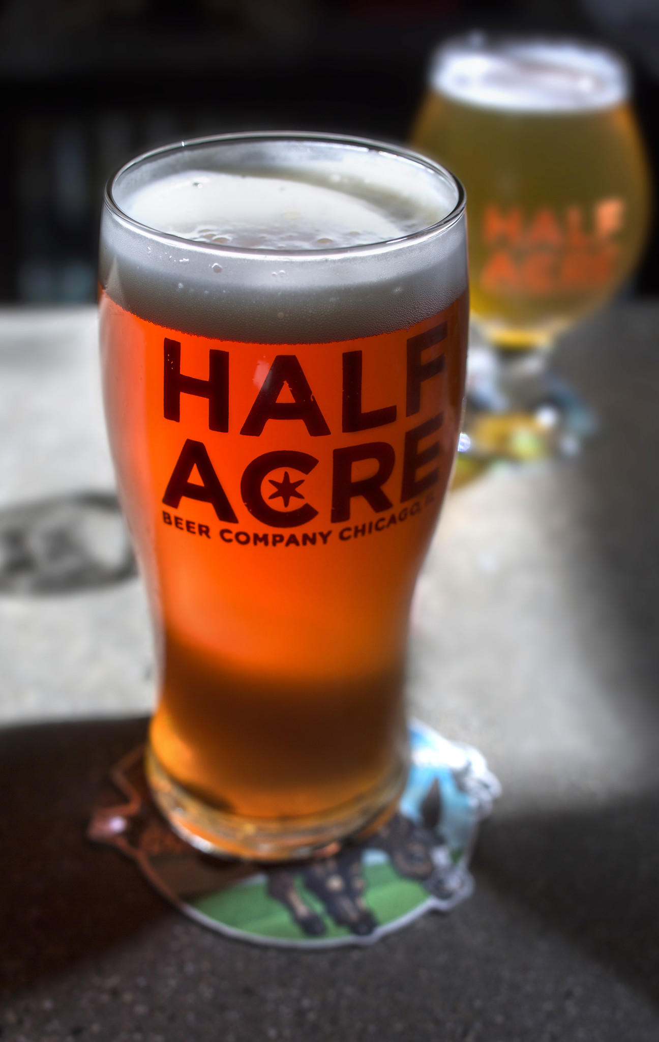 Pint of Space, a beer on draft only available at the Half Acre brewery.