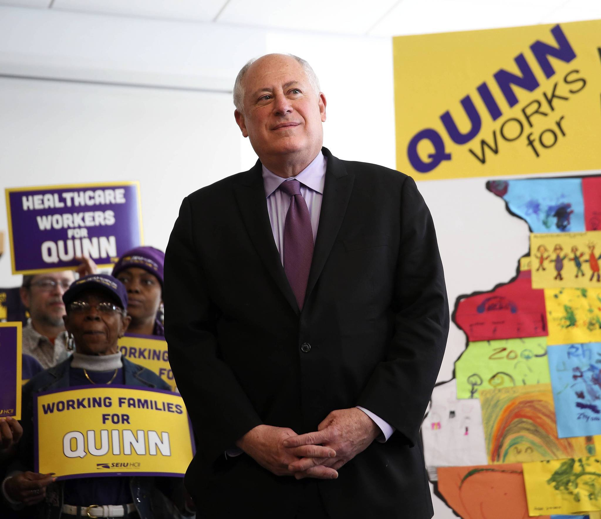 Illinois Gov. Pat Quinn on Monday received the endorsement of the Service Employment International Union. The union represents 150,000 workers in Illinois.