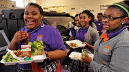 Salad bars sprouting up in city school cafeterias
