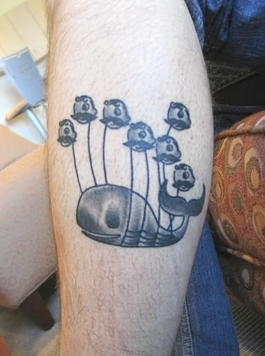 Ryan Goff's Twitter Fail Whale tattoo.