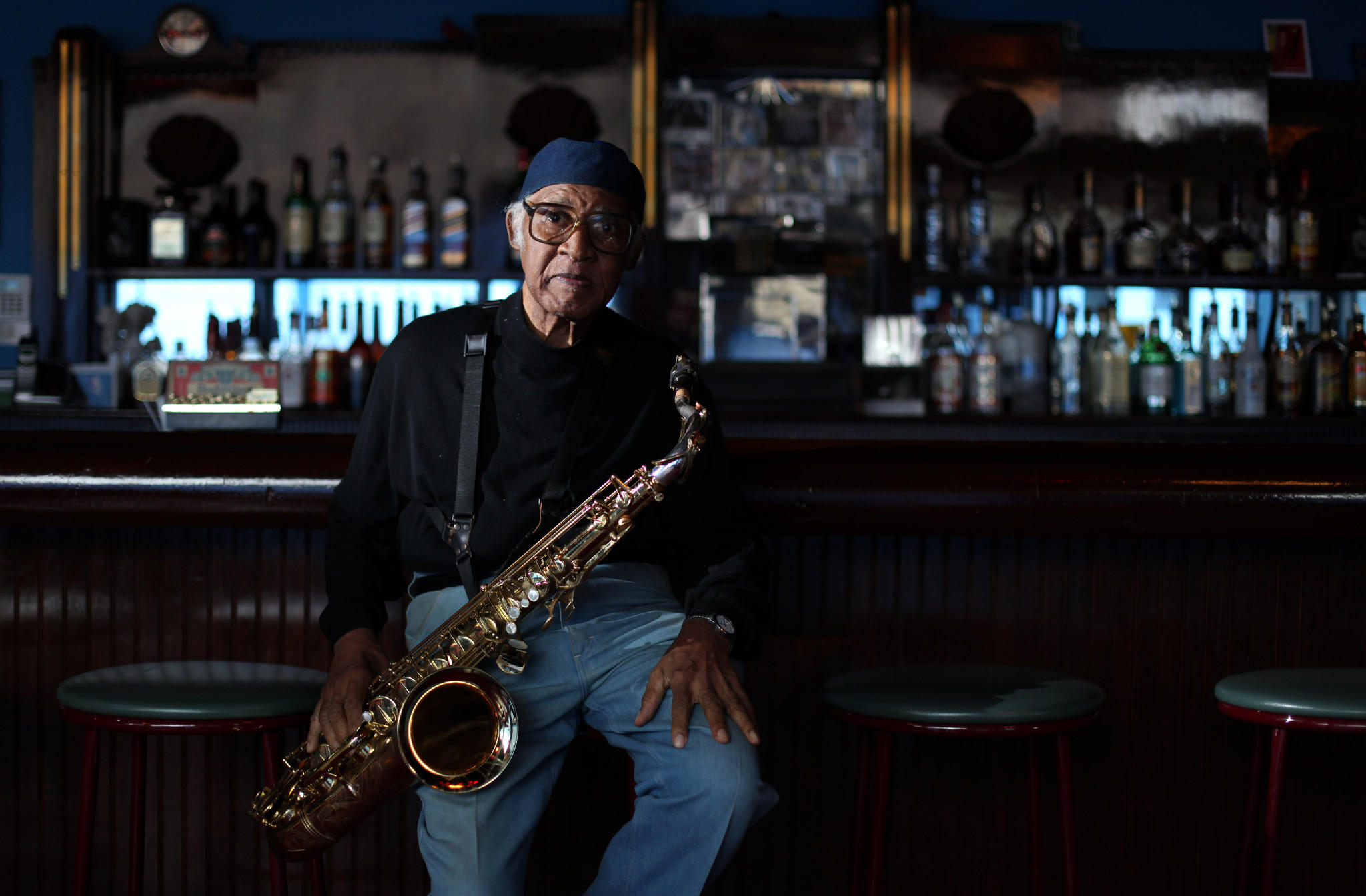 Legendary Chicago saxophonist Fred Anderson at the Velvet Lounge shortly before his 80th birthday.