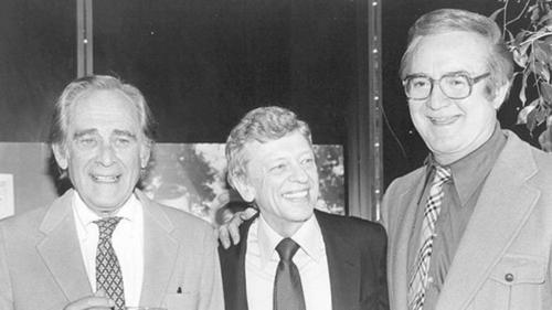 "Think Jay Leno came up with those Jaywalking bits on his own? Original ""Tonight"" host Steve Allen popularized the man-on-the-street idea, except he brought in actual comedians who were in on the jokes. This routine carried over to ""The Steve Allen Show,"" a competitor of ""The Ed Sullivan Show."""