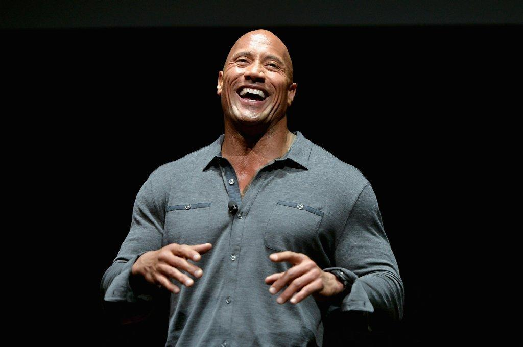 "Dwayne Johnson helps kick off the first night of CinemaCon in Las Vegas while promoting his new movie ""Hercules."""