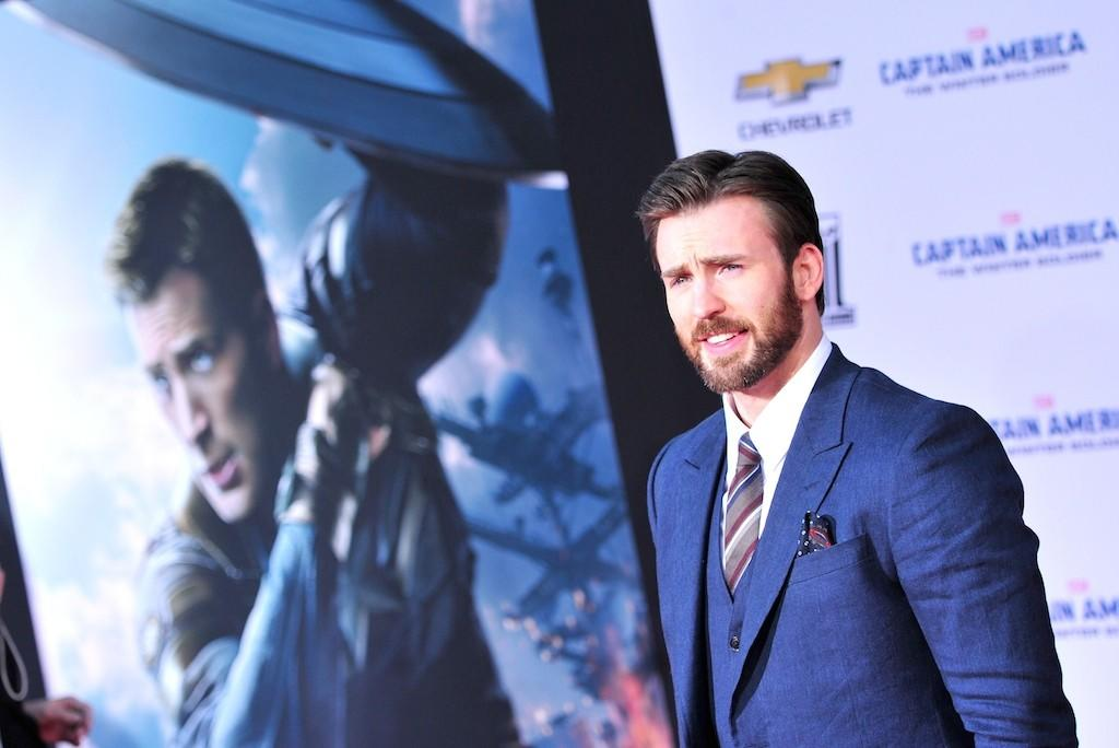 "Chris Evans, at the premiere in Los Angeles of ""Captain America: The Winter Soldier,"" is getting into directing."